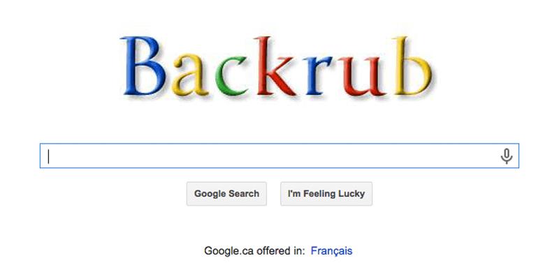 Google originally named BackRub