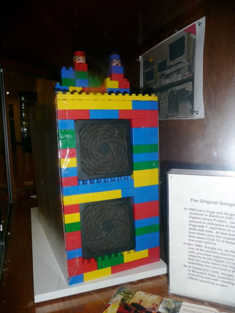 First Google computer made of Lego