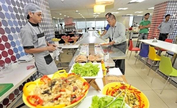Free food perks at Google headquarters