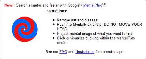 Google MentalPlex April Fools' joke